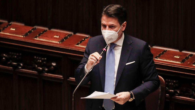 Giuseppe Conte, Ministerpräsident von Italien, spricht im Parlament.