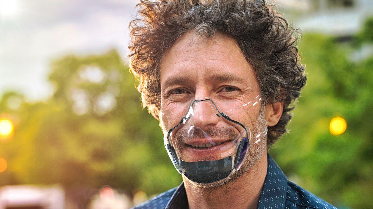 Transparente Maske.