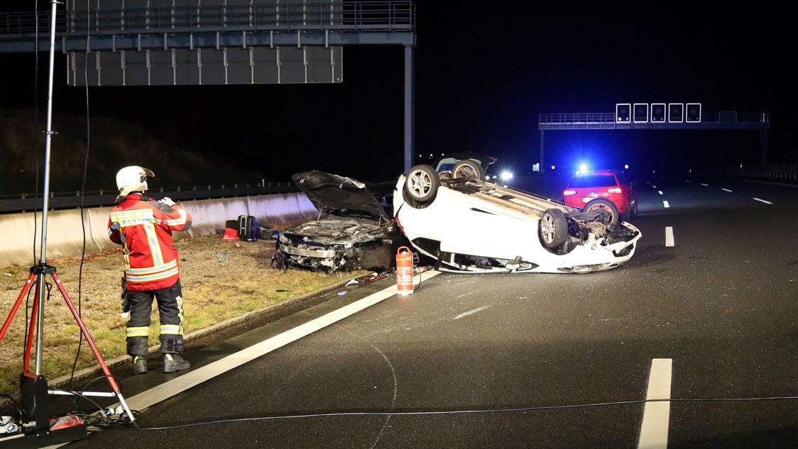 Unfall auf der A3 bei Bessenbach/Waldaschaff