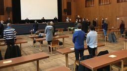 Missbrauchsprozess in der Stadthalle Schweinfurt | Bild:BR/Norbert Steiche