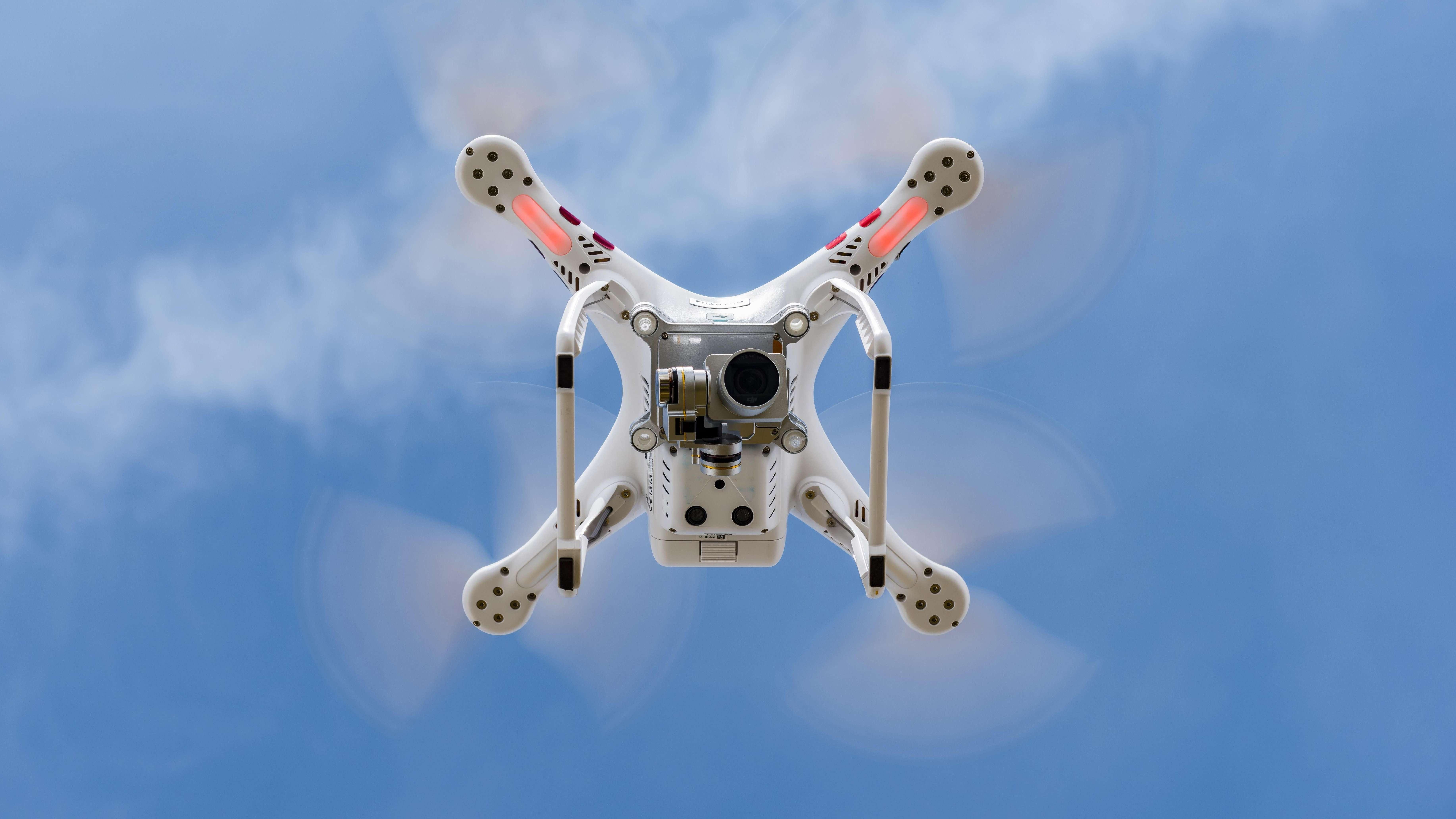 Unterseite einer Drohne