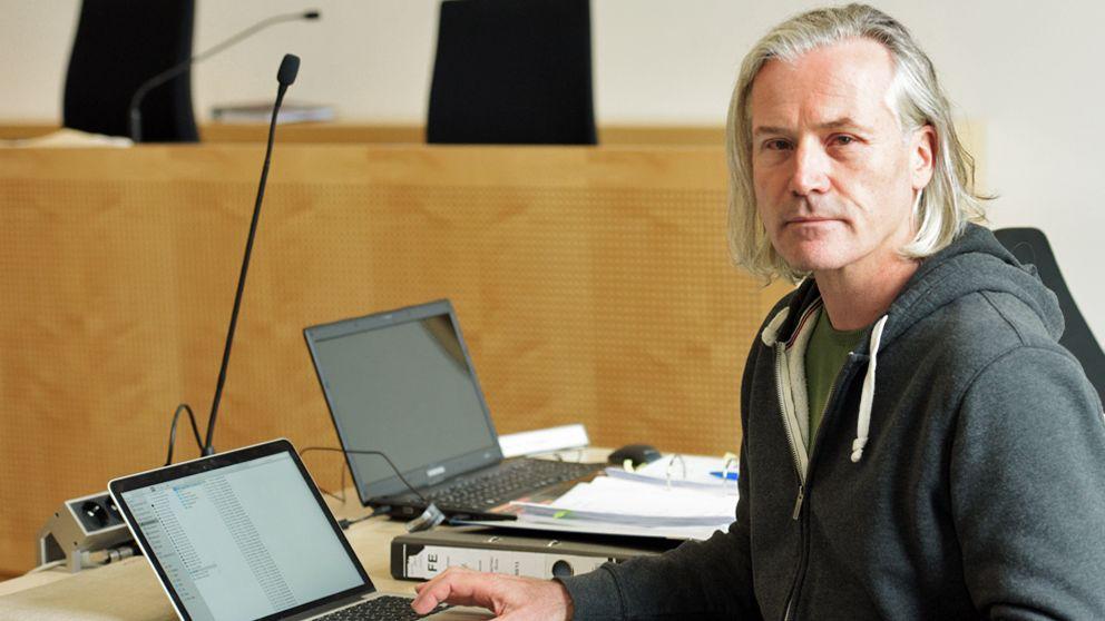 Michael Herrmann während eines Zivilprozesses um die Entführung seiner Schwester Ursula im Landgericht Augsburg (Archivbild)