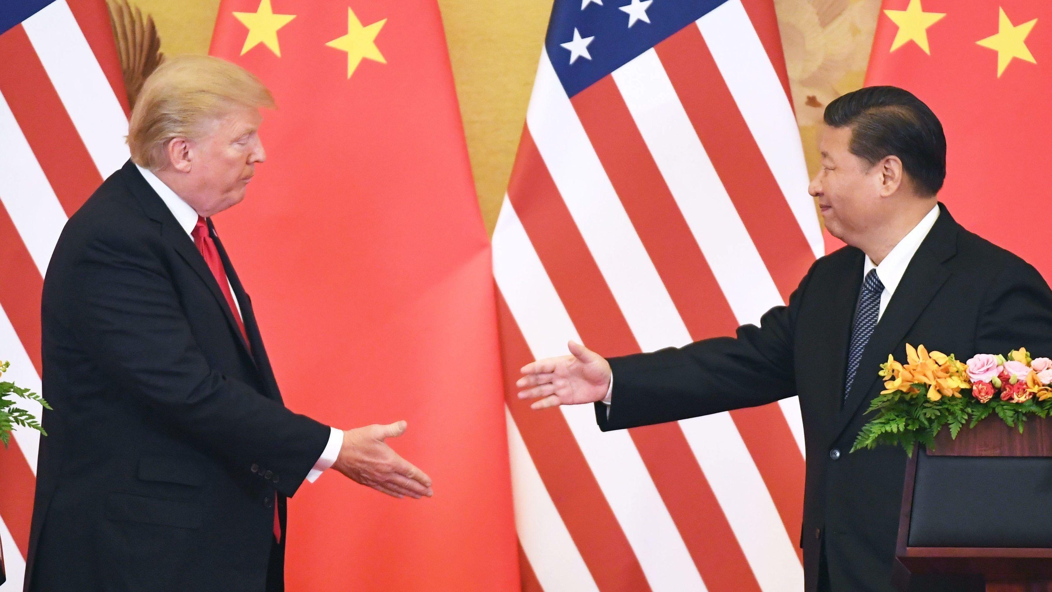 Donald Trump und Chinas Staatschef Xi Jinping