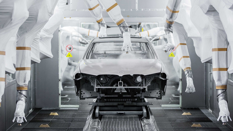 Produktionsstrasse im BMW-Werk in China