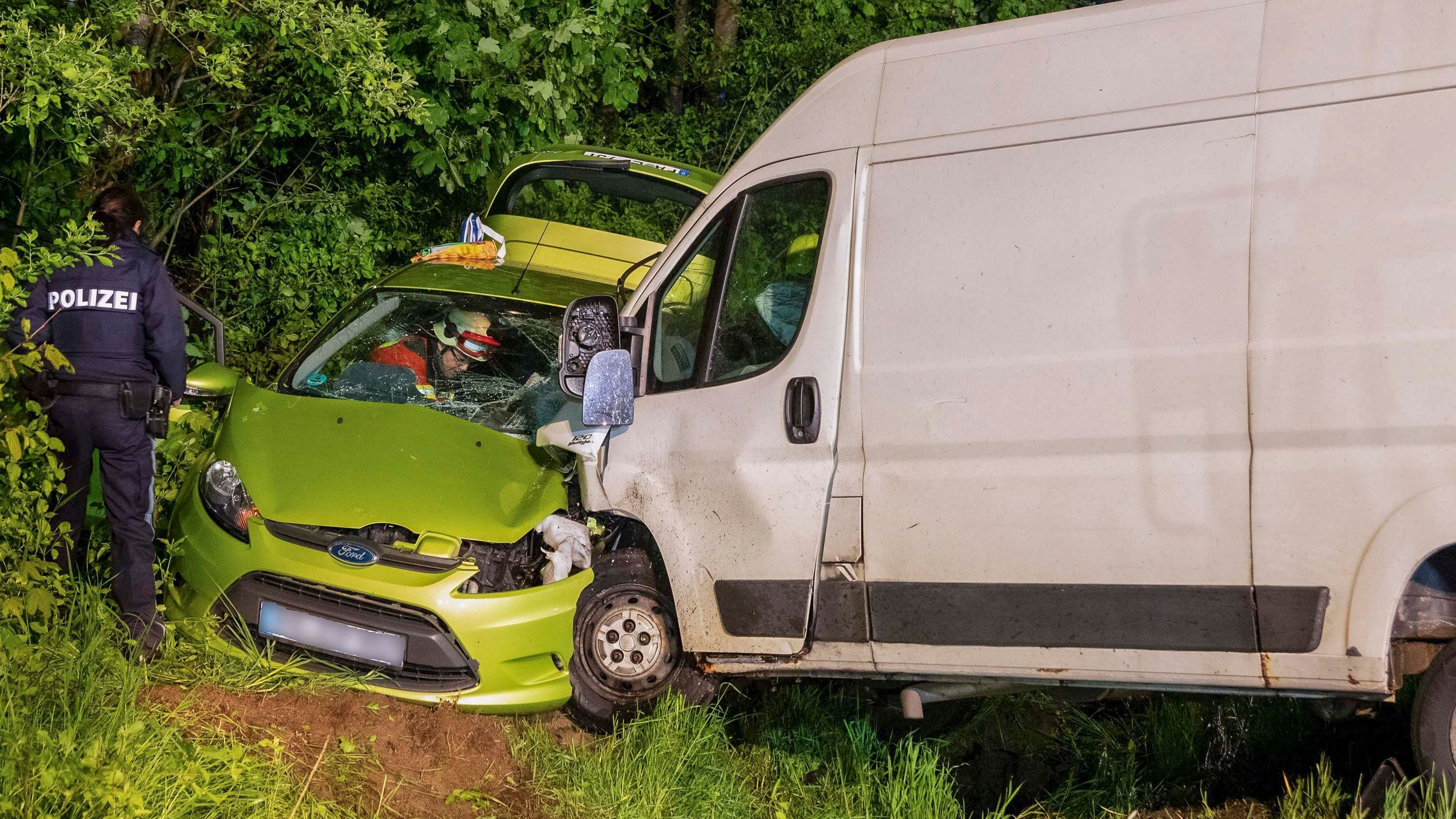 Trotz des Ausweichmanövers kam es zum Zusammenstoß der beiden Fahrzeuge.