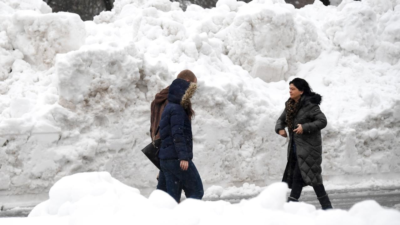 An manchen Stellen von Traunstein erinnert die Schneelandschaft an Grönland oder die Antarktis