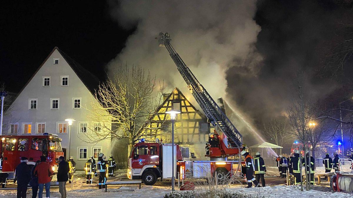 Wohnhausbrand in Dombühl (Lkr. Ansbach)