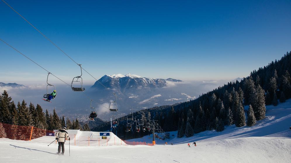 Skifahren im Garmisch-Classic Skigebiet. | Bild:Julia Müller