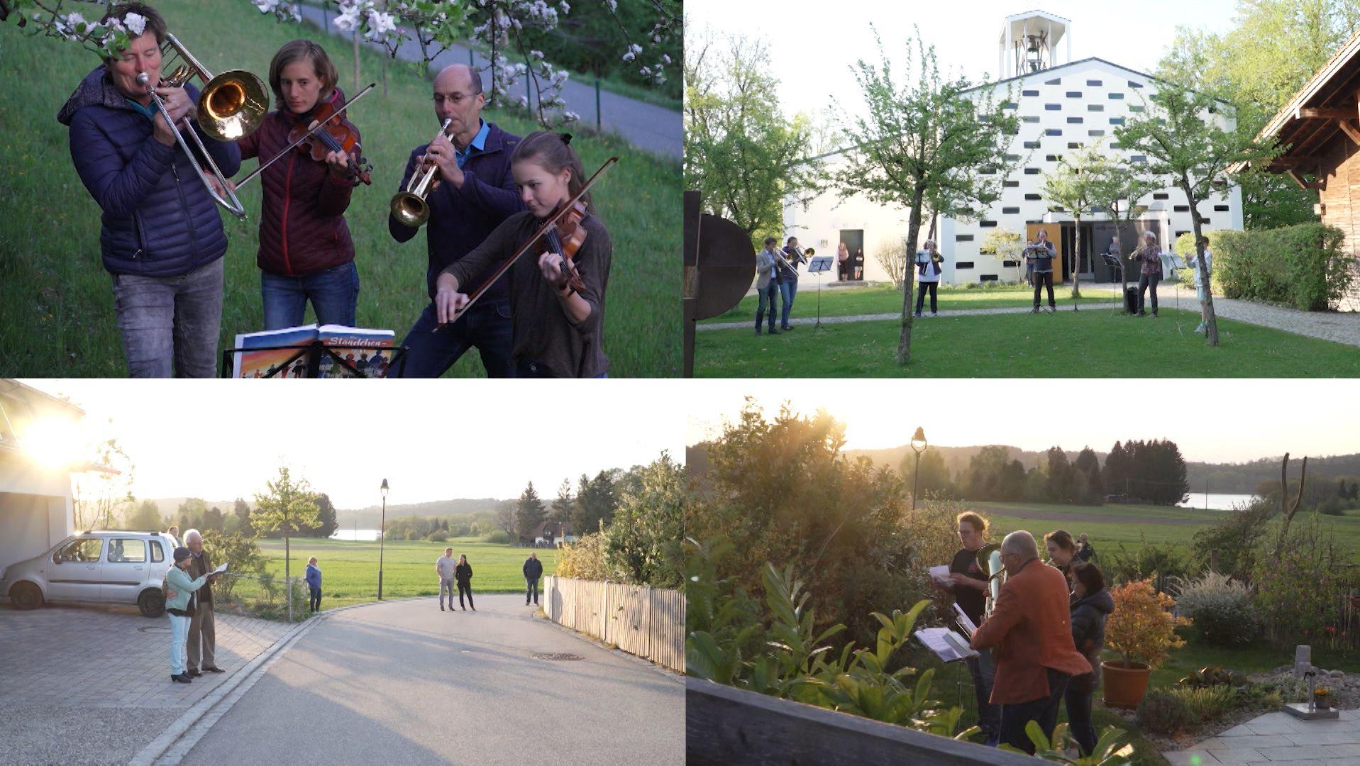 Musiker um 19 Uhr in Ebersberg: Der Mond ist aufgegangen!
