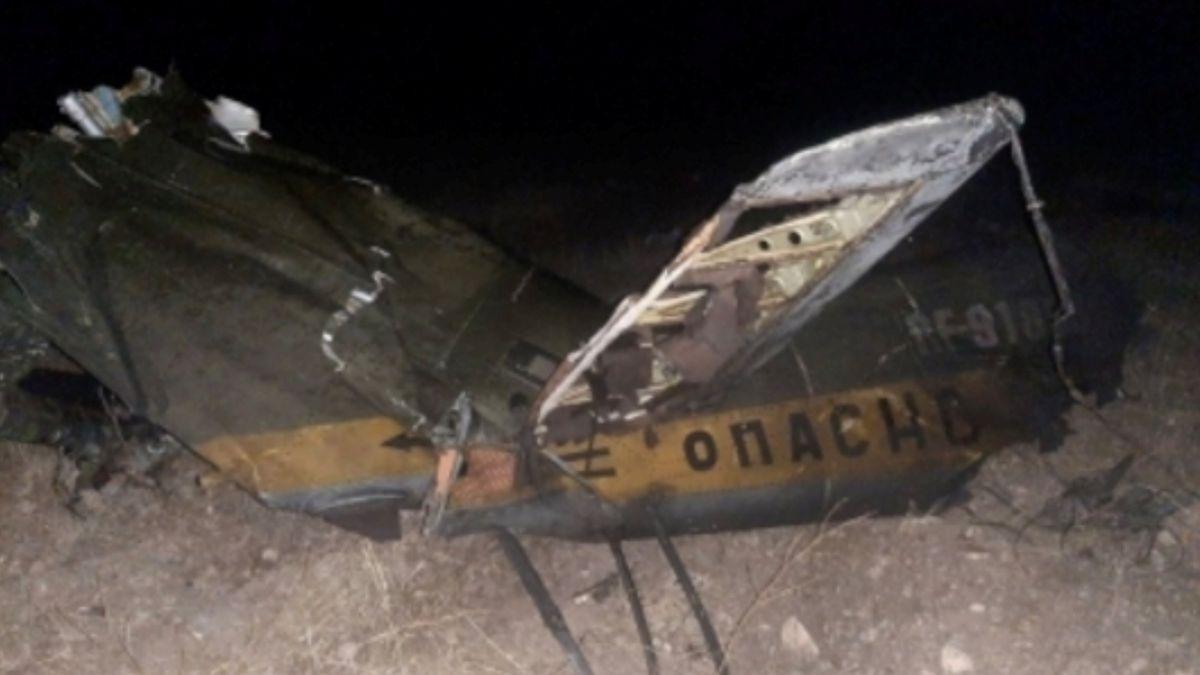 Ein von der armenischen Regierung veröffentlichtes Foto soll den abgestürzten russischen Militärhubschrauber Mi-24 zeigen