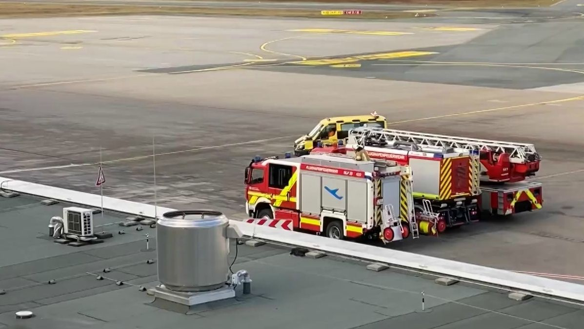 Betriebsunfall am Nürnberger Flughafen