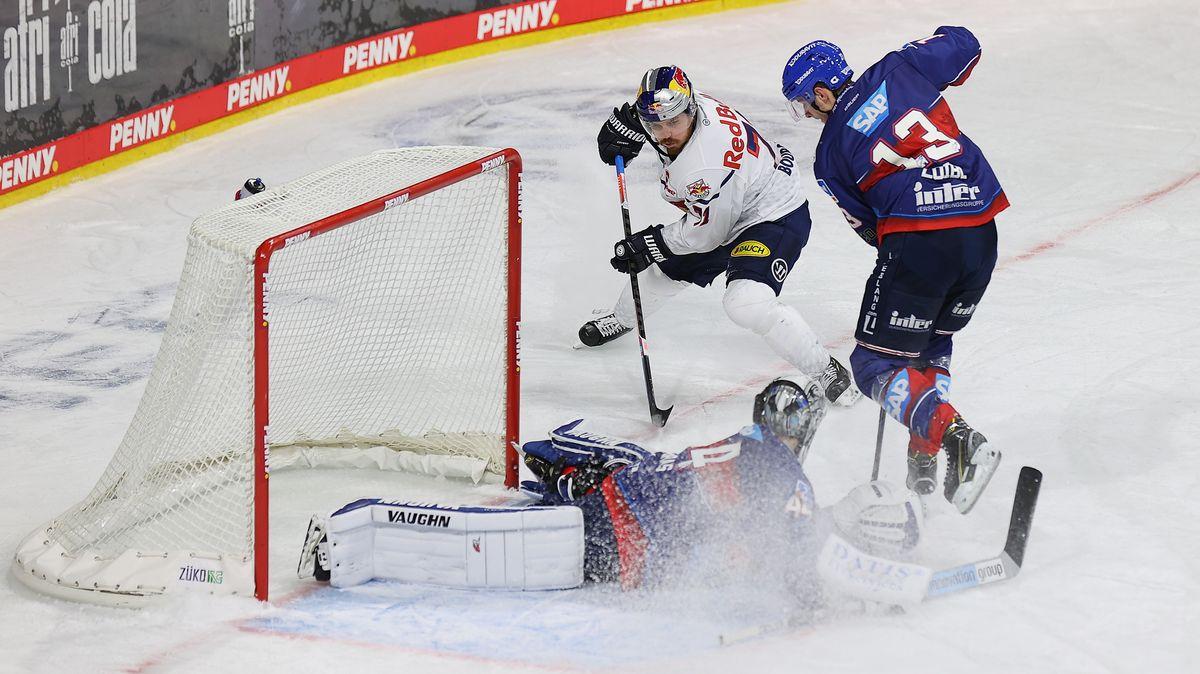 Eishockey-Spielszene Mannheim - München