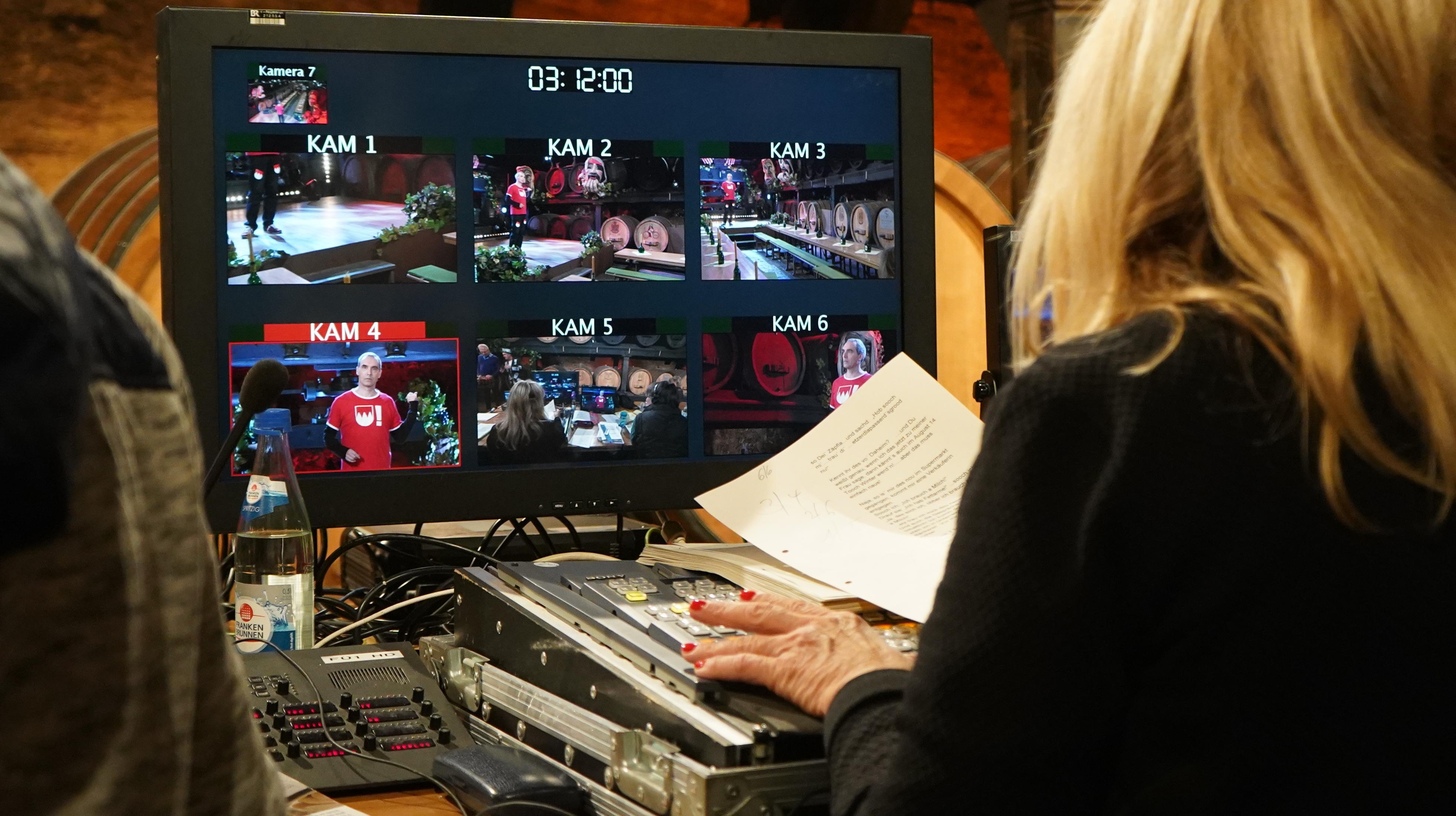 Der Monitor der Regie