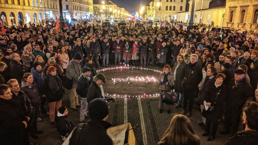Kundgebung am Odeonsplatz in München | Bild:picture alliance/ZUMA Press