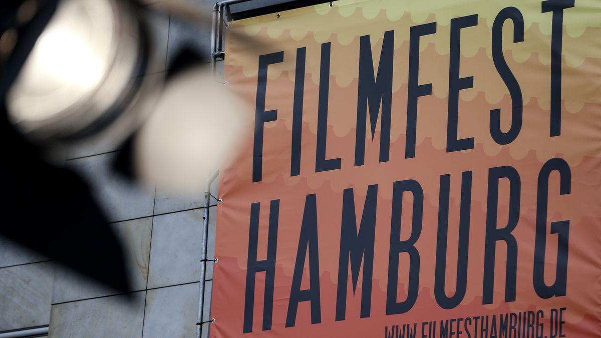 Werbebanner für das Filmfest Hamburg