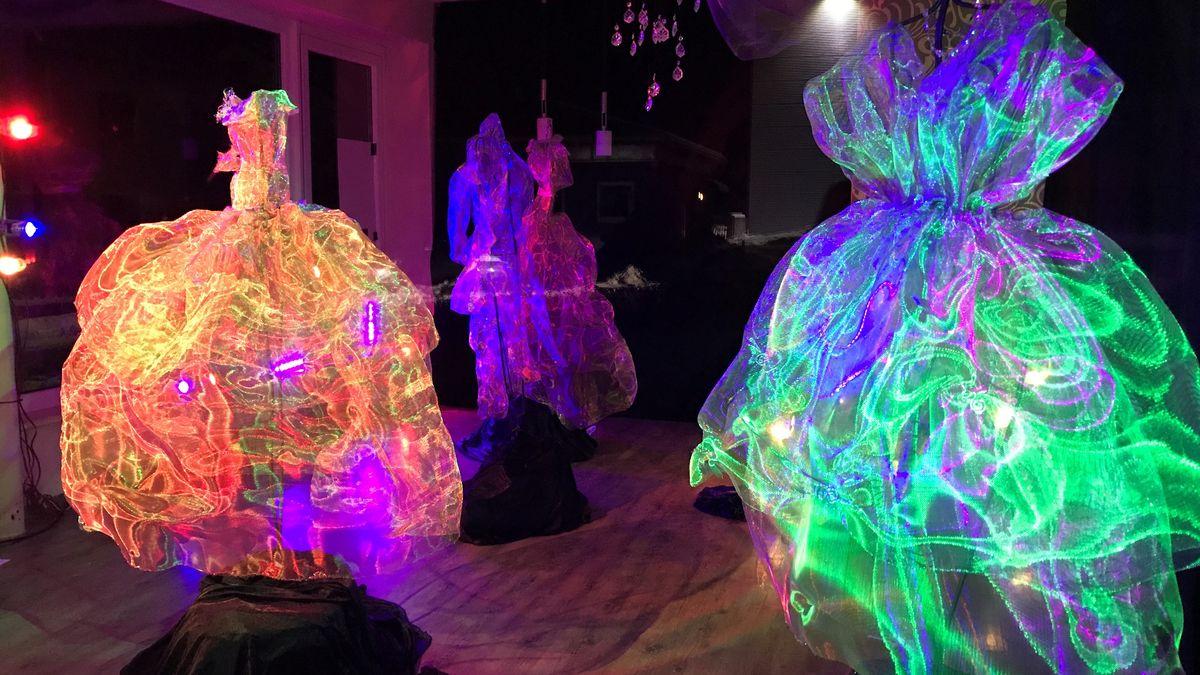 Eine Lichtinstallation der Kronacher Lichtblicke