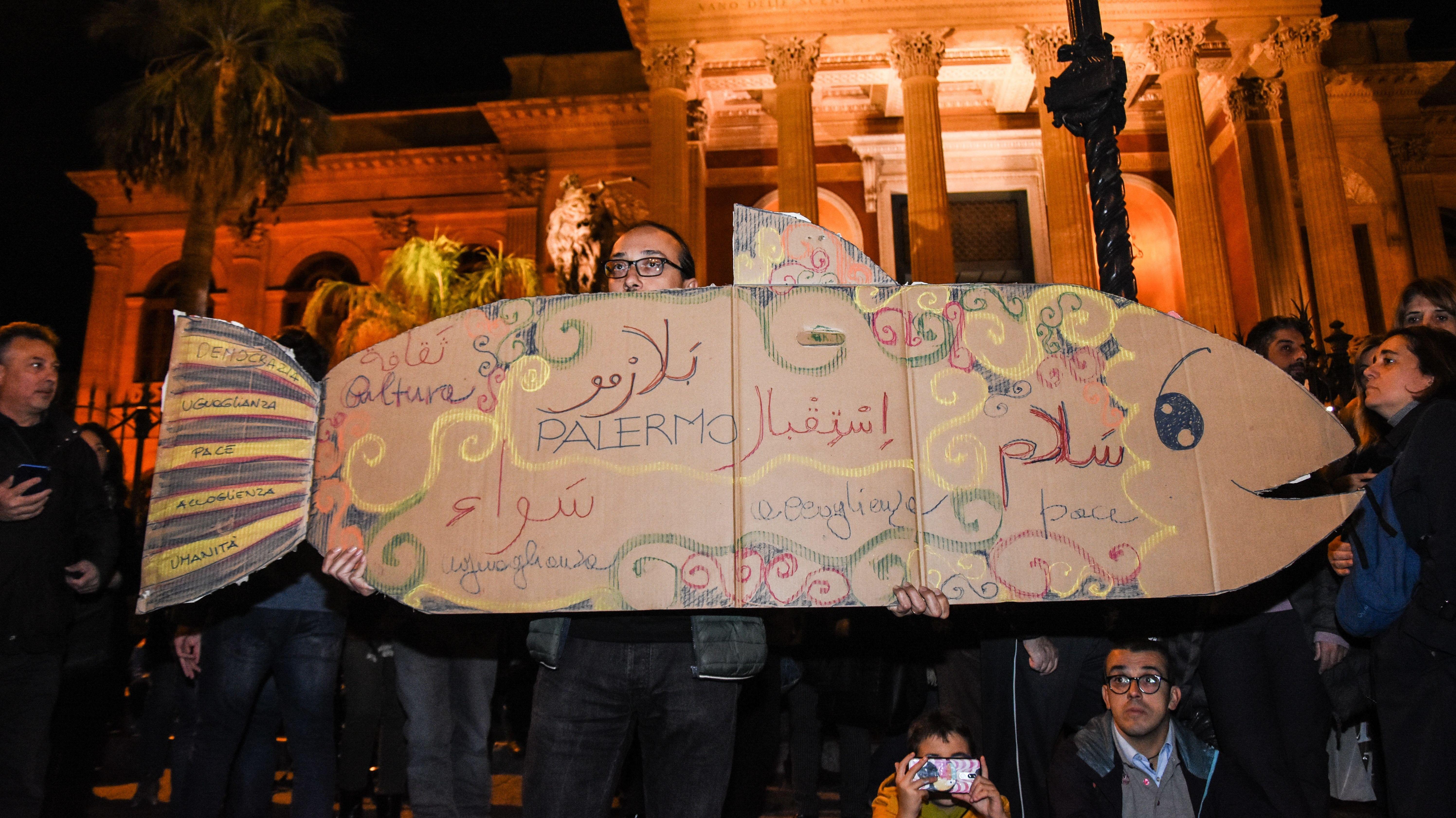 "Protestbewegung ""Sardinen"" in Italien"