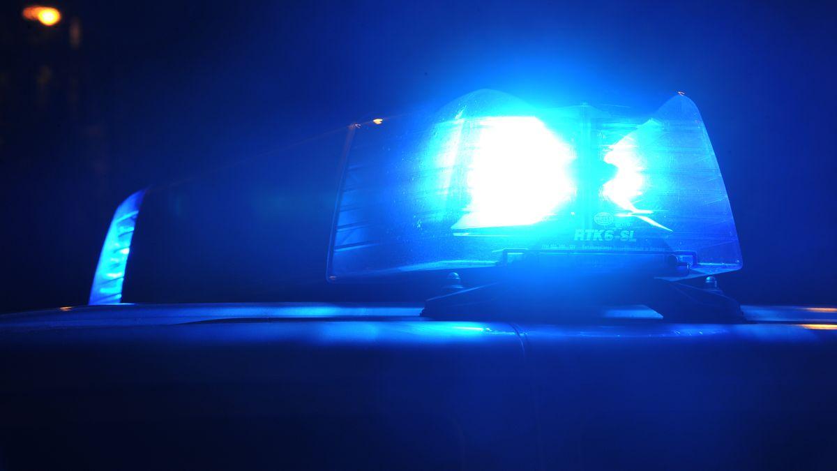 Blaulicht eines Polizeiwagens.
