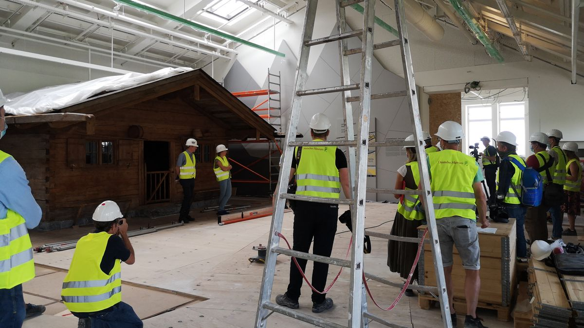 Die ersten Ausstellungsräume werden langsam fertig.