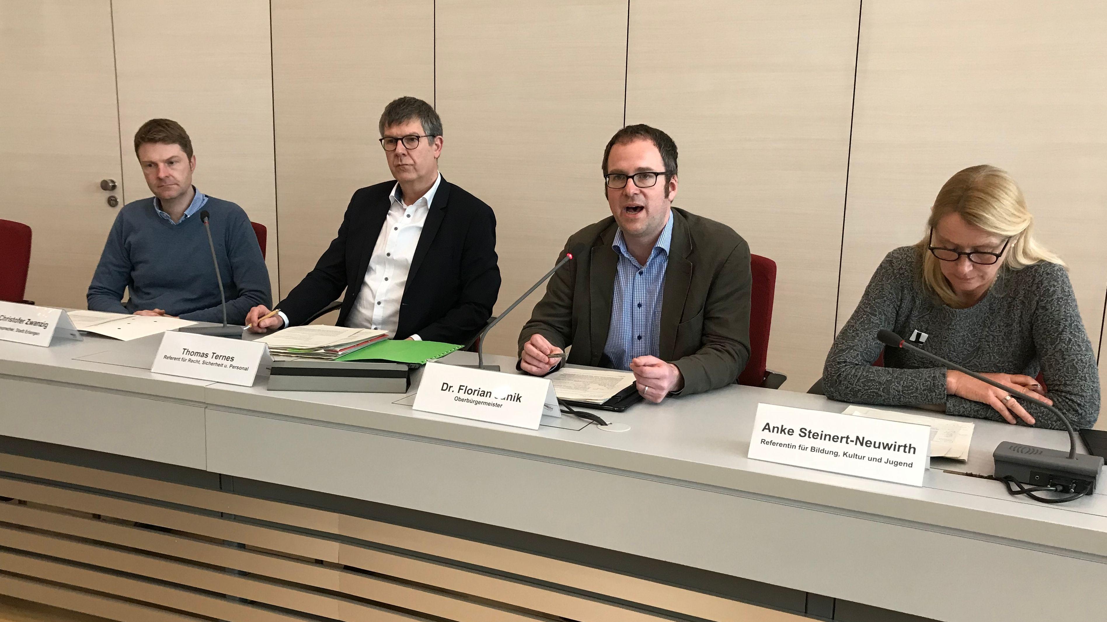 Pressekonferenz in Erlangen