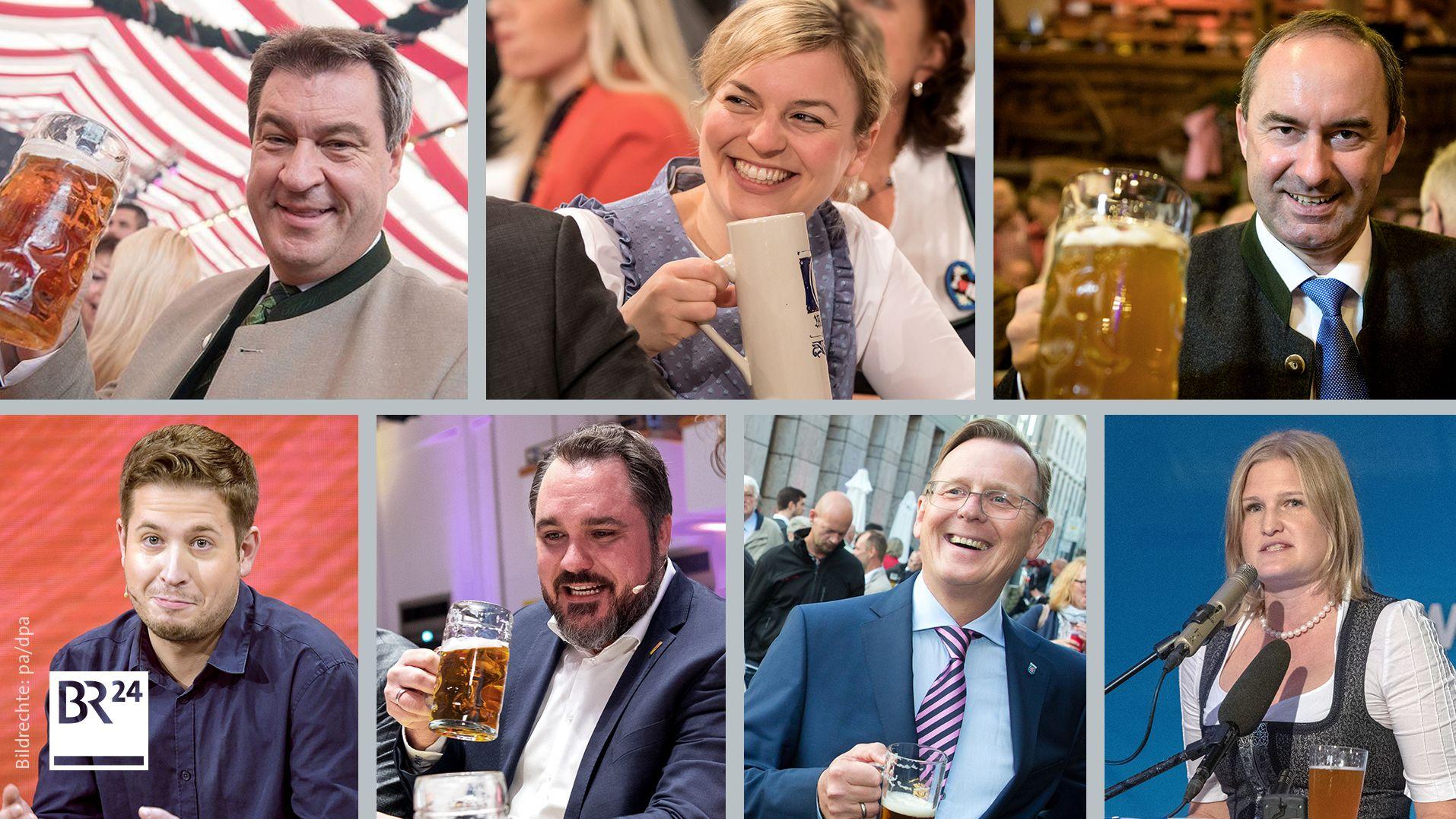 Gillamoos-Redner: Markus Söder, Katharina Schulze, Hubert Aiwanger, Kevin Kühnert, Daniel Föst, Bodo Ramelow, Katrin Ebner-Steiner
