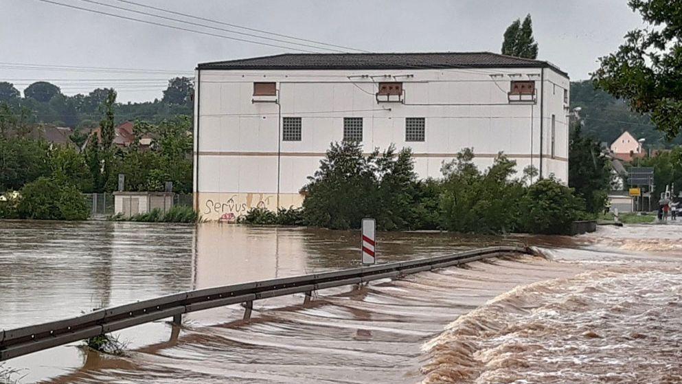Hochwasser in Wilhermsdorf an der Zenn