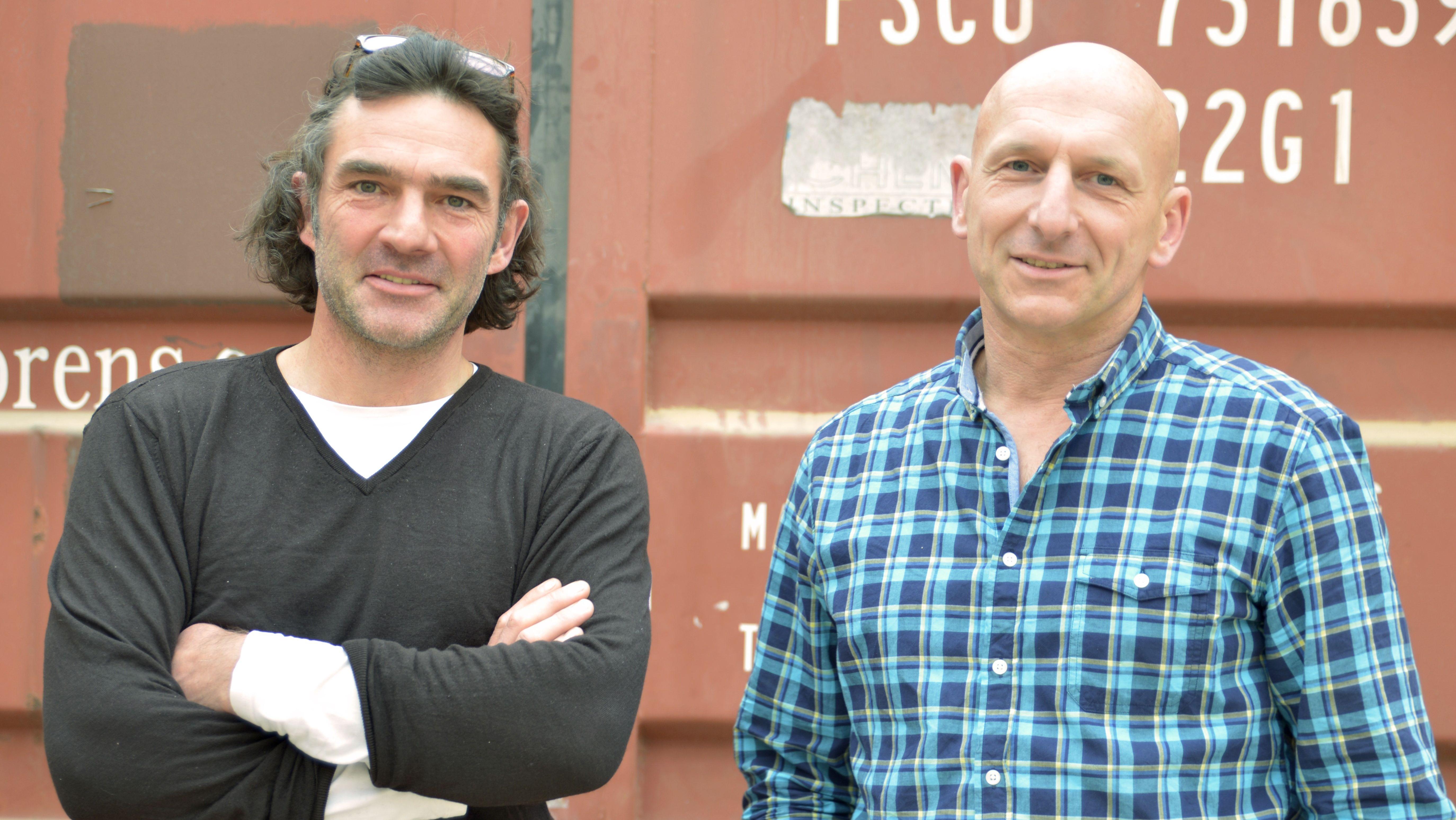 Das Künstlerduo Empfangshalle: Corbinian Böhm (links) und Michael Gruber