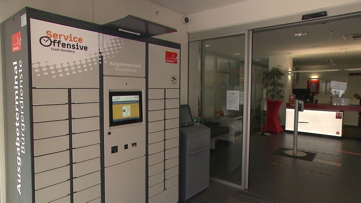 Passamt und Abhol-Automat in Nürnberger Sparkassen