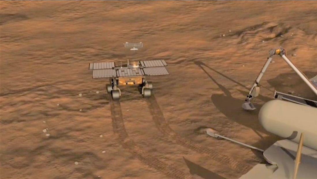 """Der Rover """"Perserverance"""" soll auf dem Mars Bodenproben sammeln."""