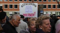 Demo der Bewohner in Neuselsbrunn | Bild:BR/Kilian Gebhardt