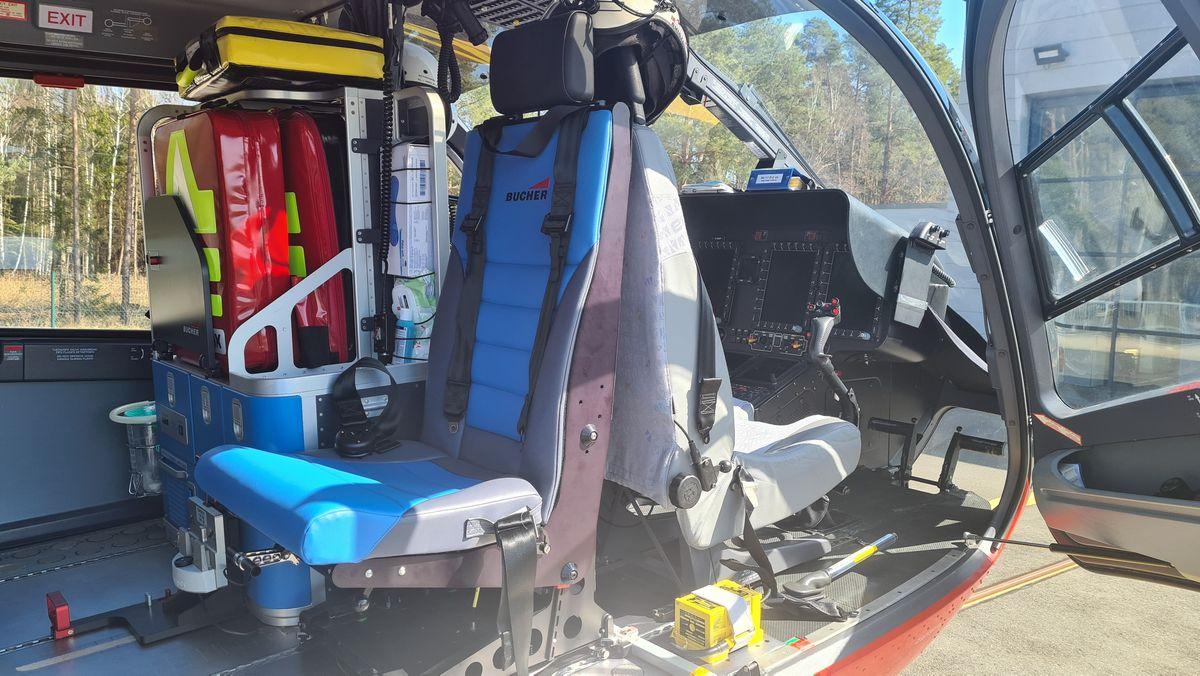 Blick ins Innere des neuen Rettungs-Helikopters für die Nordoberpfalz