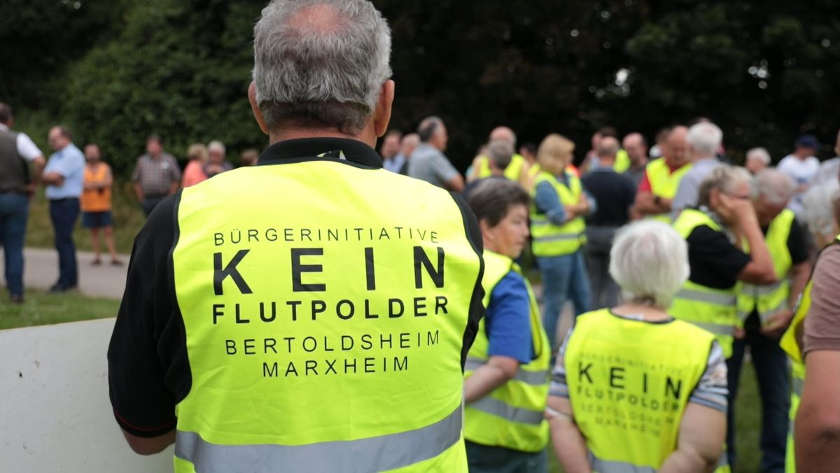 Widerstand gegen Flutpolder in Bertoldsheim