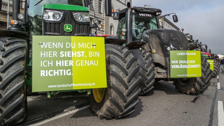 Bauern-Demo in München (Symbolbild)
