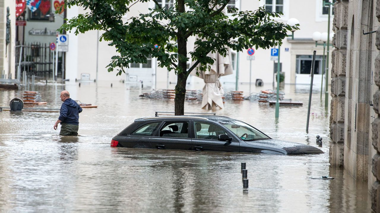 Archivfoto: Hochwasser in Passau 2013