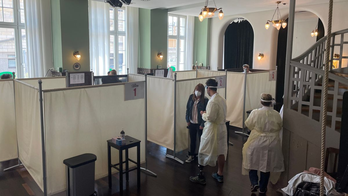 Teststationen im Grüner Brauhaus Fürth