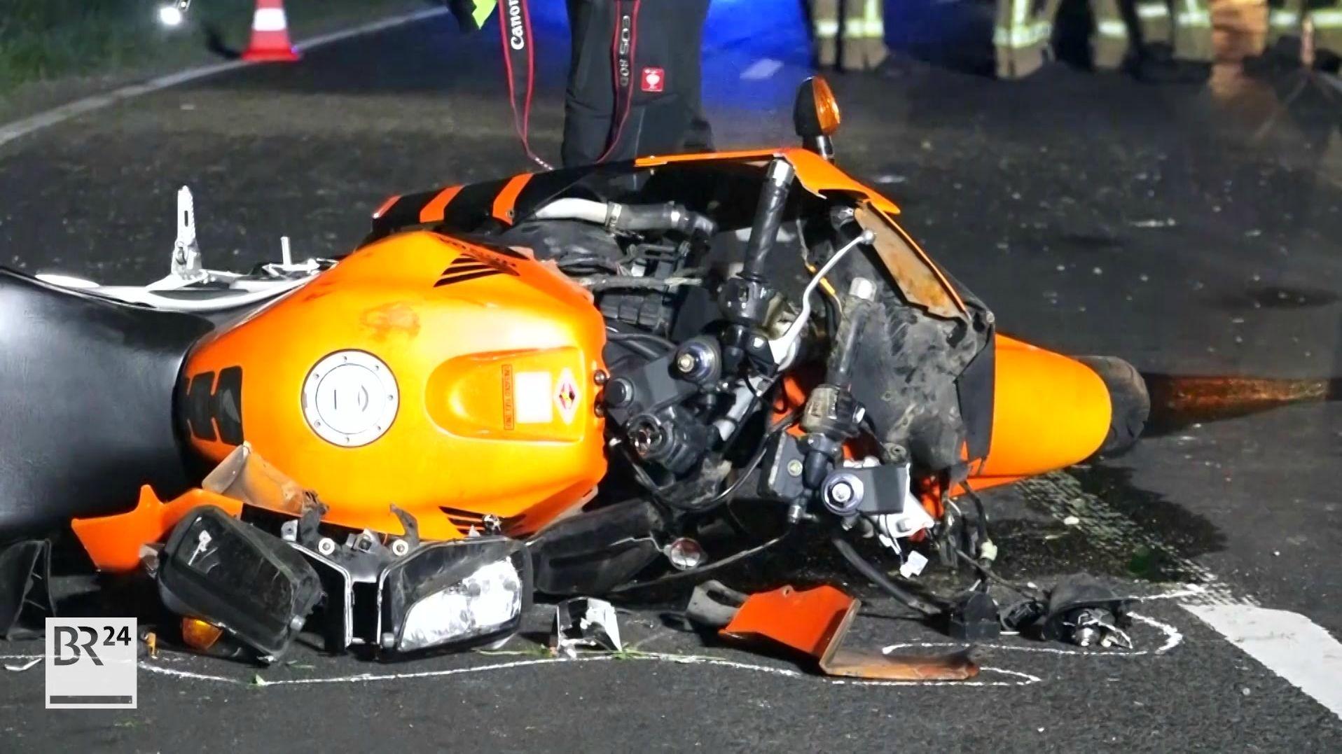 Tödlicher Motorradunfall bei Zeil am Main