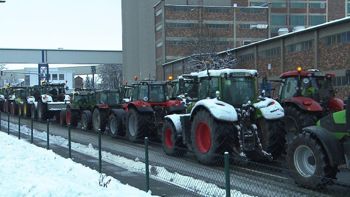 Landwirte protestieren in Ochsenfurt