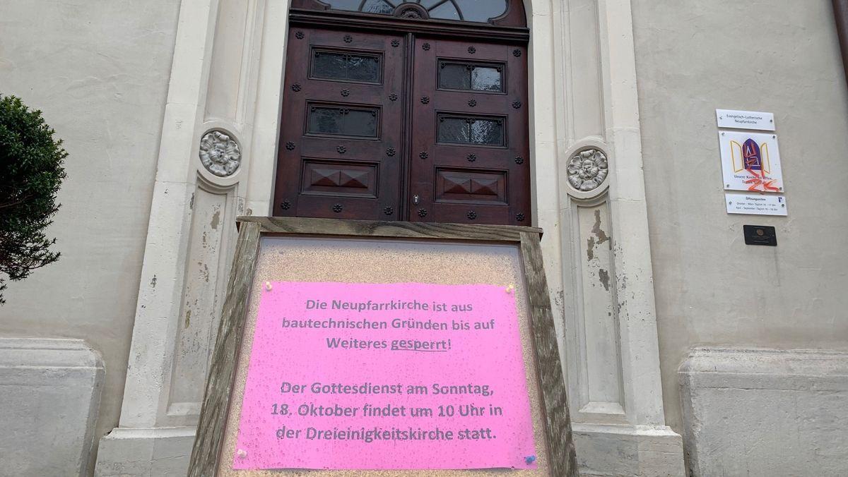 Bild von gesperrter Neupfarrkirche