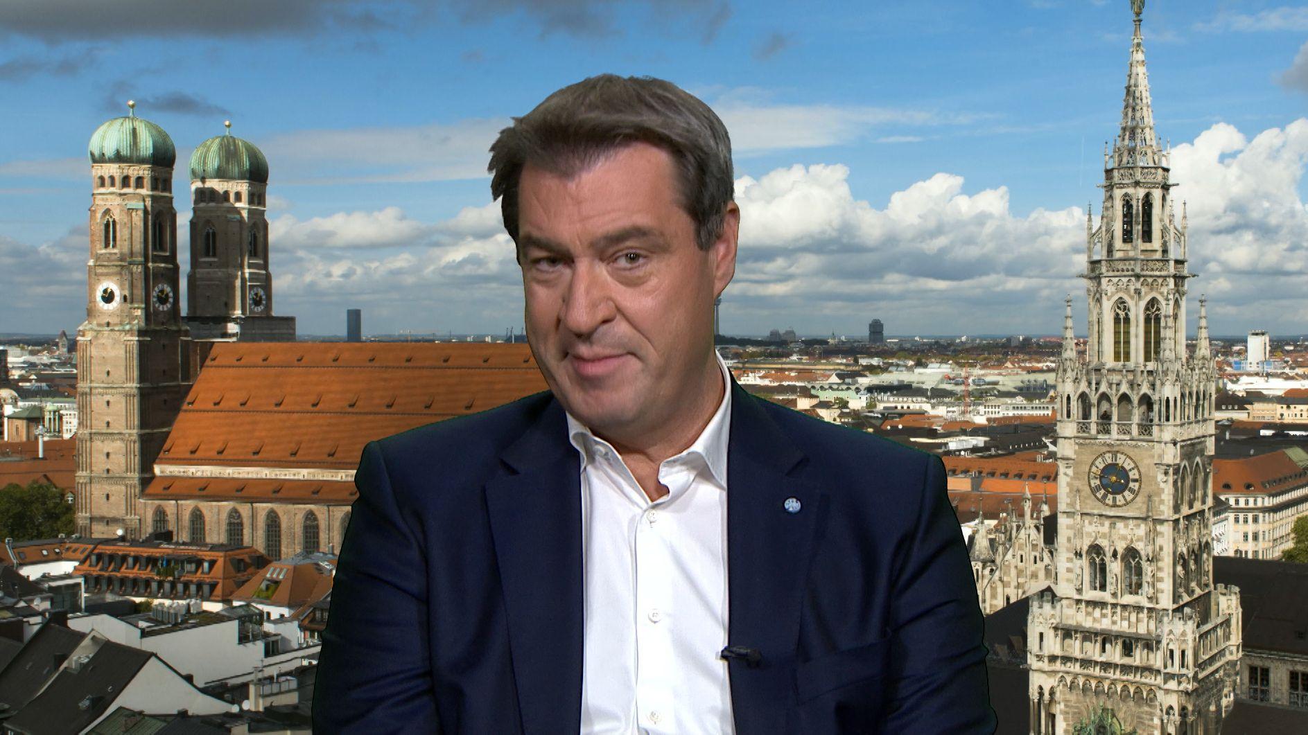 """Im """"Bericht aus Berlin"""" der ARD hat der bayerische Ministerpräsident das Klima-Paket der Bundesregierung verteidigt."""