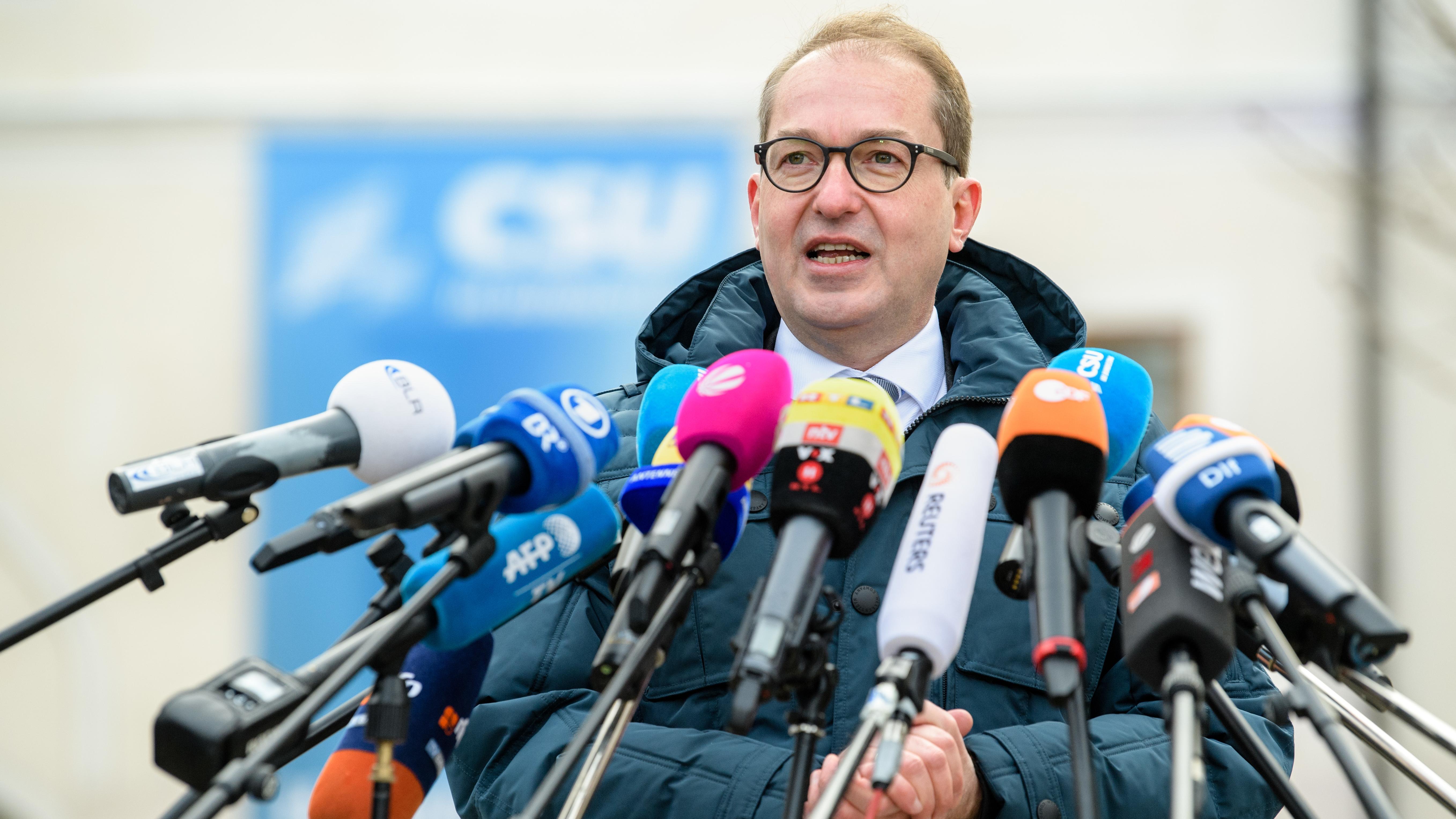 Archivbild: Alexander Dobrindt, CSU-Landesgruppenchef