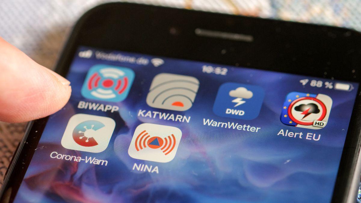 Warn-Apps auf dem Smartphone