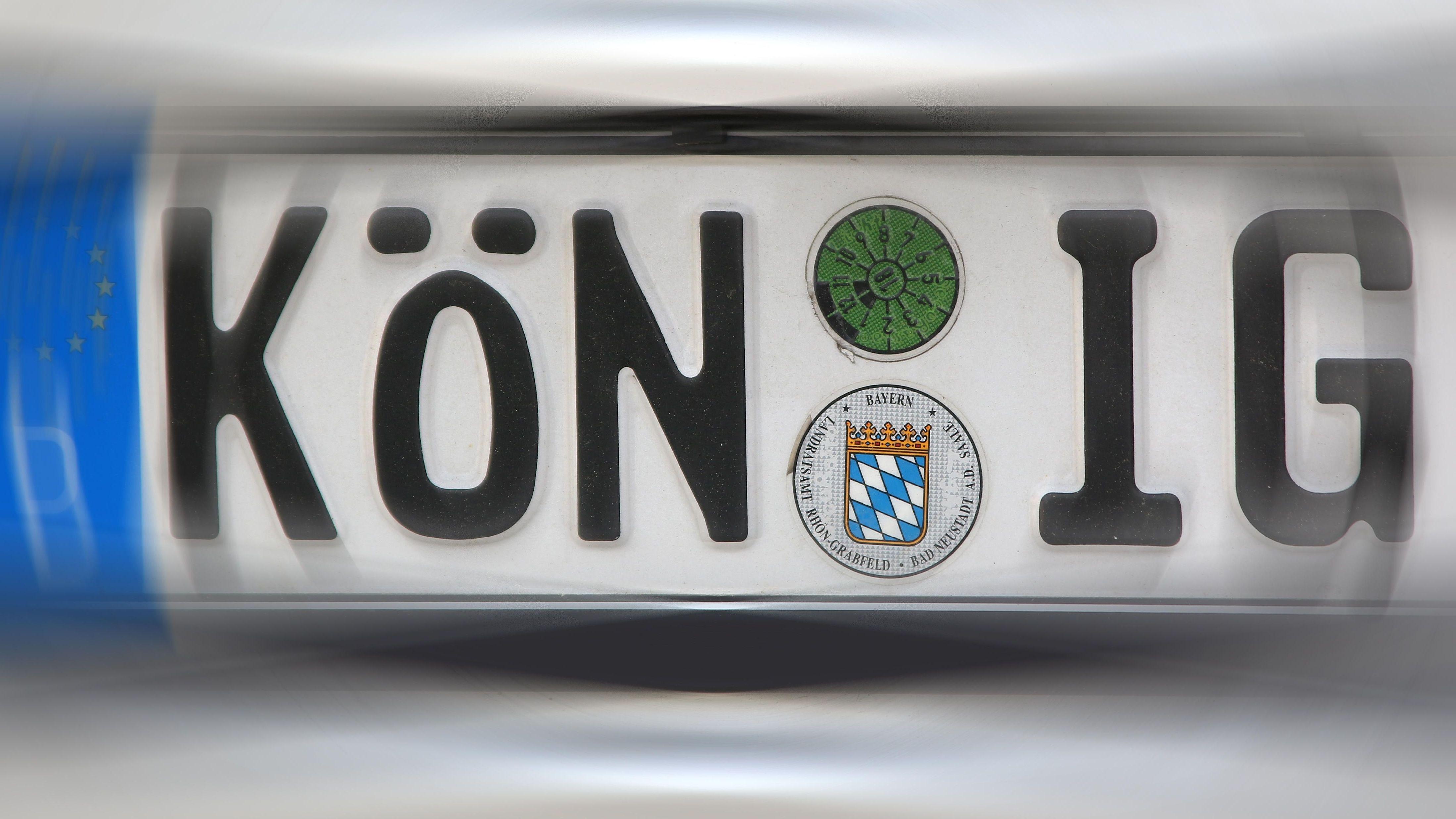 Autokennzeichen von Bad Königshofen, im Landkreis Rhön-Grabfeld