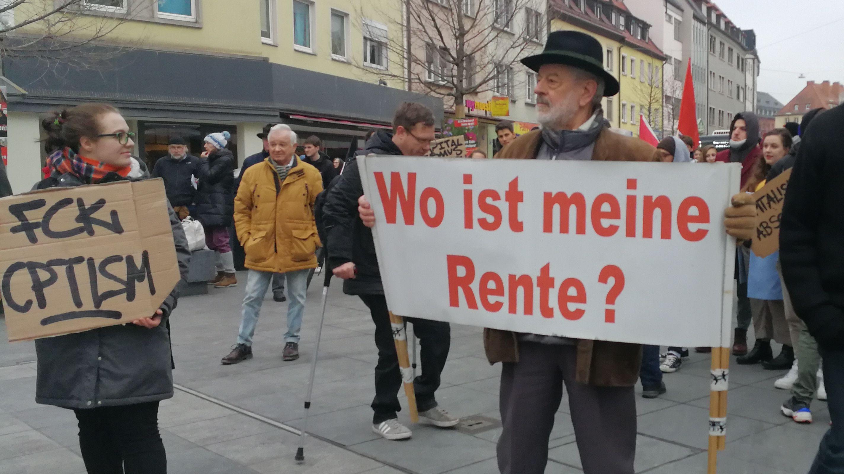 Protest gegen Altersarmut