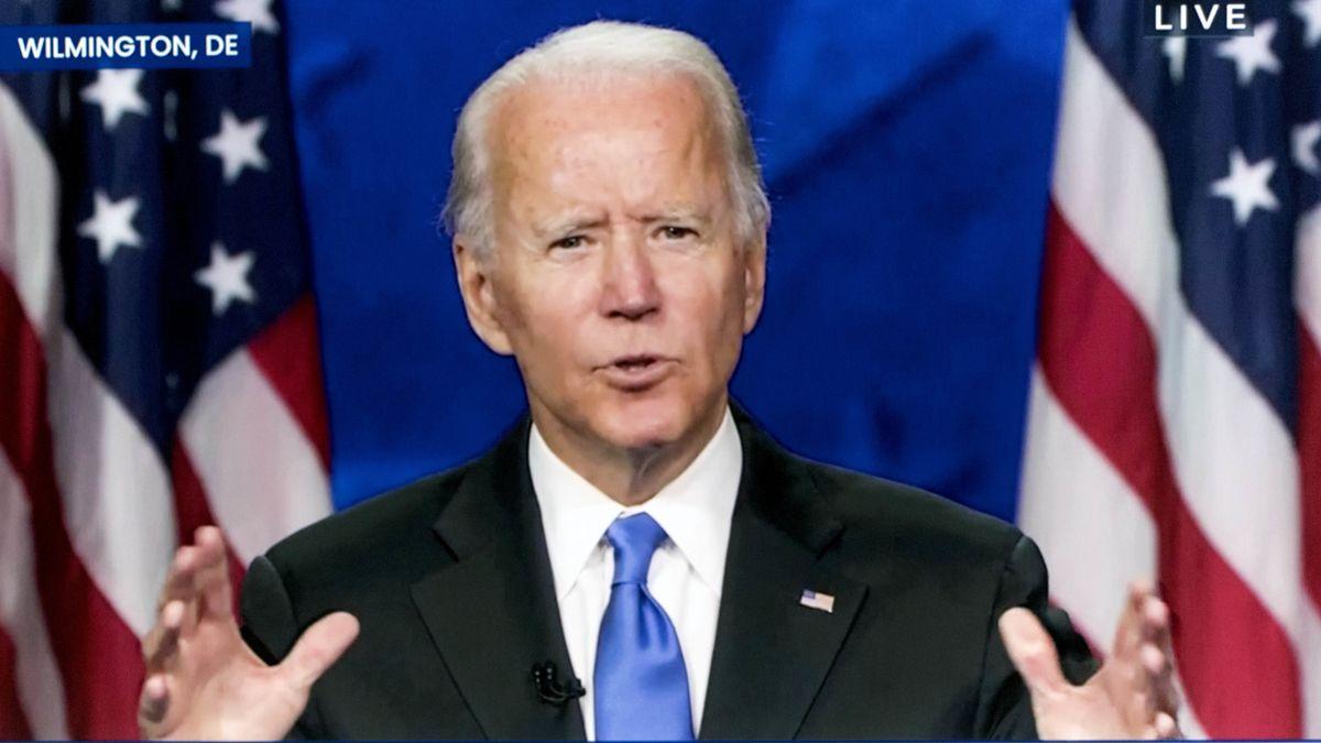 Joe Biden bei einer Rede.
