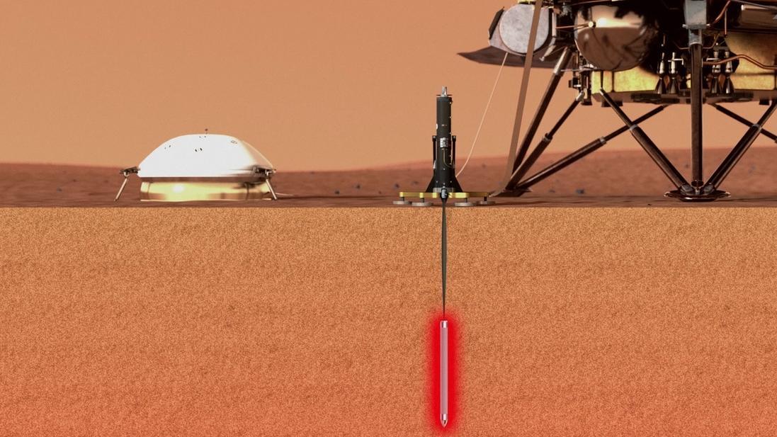 Mars-Lander InSight (künstlerische Darstellung)