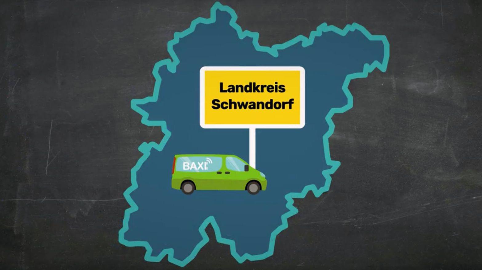 """Im Landkreis Schwandorf startet heute das Rufbus-System """"Baxi"""". Dahinter verbirgt sich eine Mischung aus Bus und Taxi."""