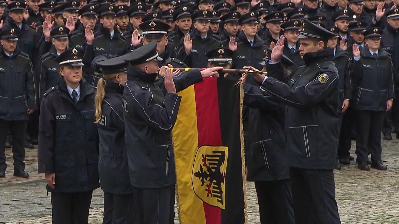Vereidigung Bundespolizisten in Bamberg