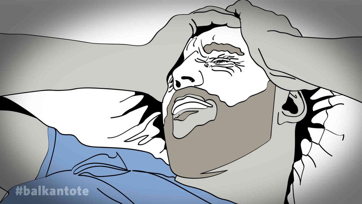 Illustration: Tod in Schlepperhand - Ein Zeuge erzählt
