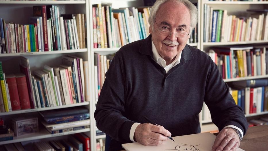 Der deutsche Karikaturist Dieter Hanitzsch