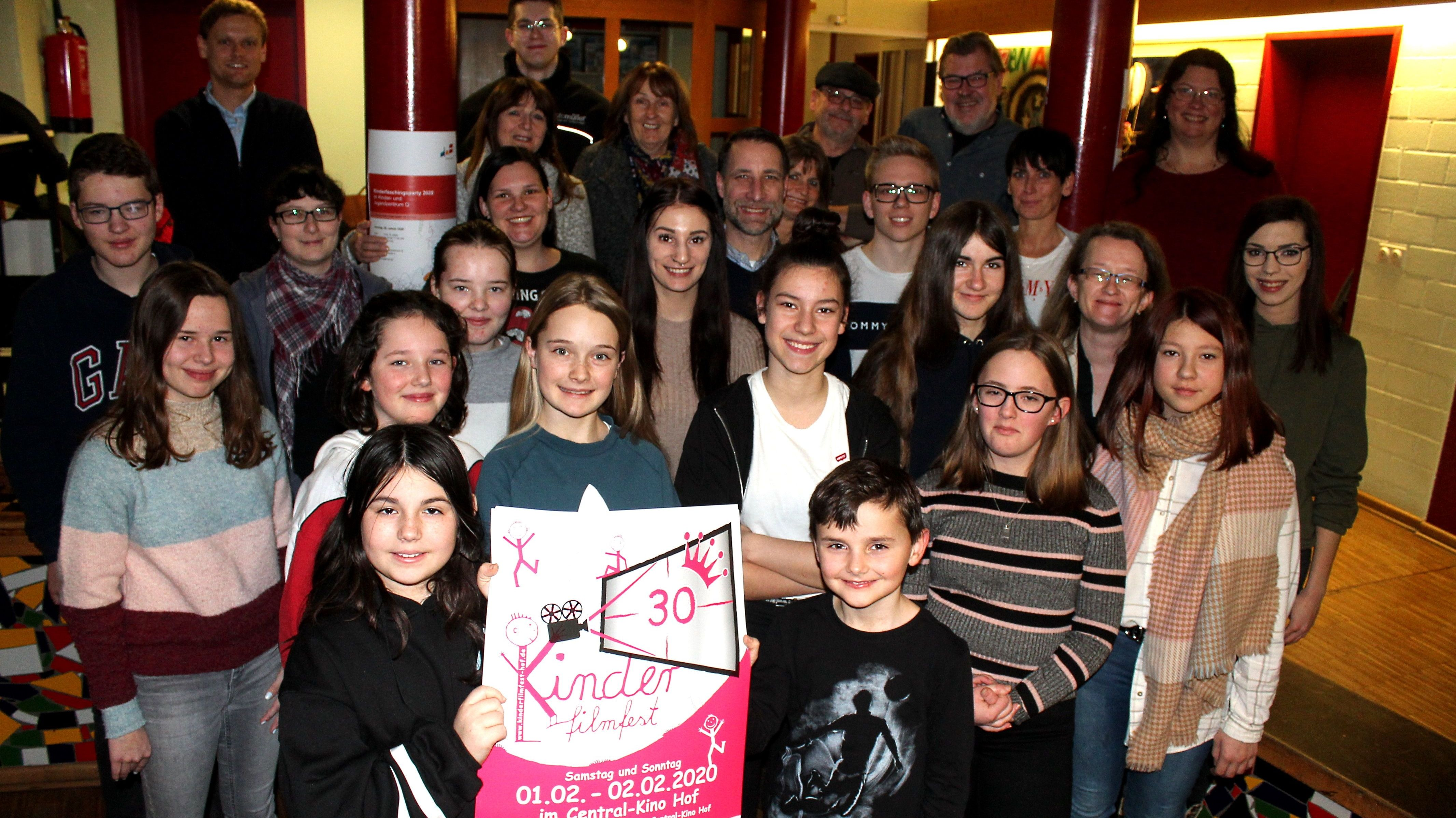 Gruppenbild des Kinderfilmfest-Teams.